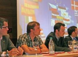 Unterstrichen bei einer Podiumsdiskussion in der Eisl. Stadthalle die Bedeutung der EU und Europawahl. FOTO: Iris Ruoss